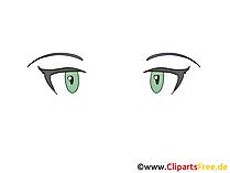 Katzenblick Clipart, Bild, Zeichnung, Grafik