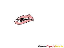 唇噛む絵、デッサン、漫画