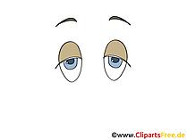 Muede Augen Bild, Zeichnung, Cartoon