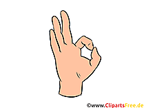 OK Hand Illustration, Bild, Clipart gratis