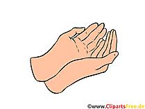 Paare Hände Zusammen platziert Illustration, Bild, Clipart gratis