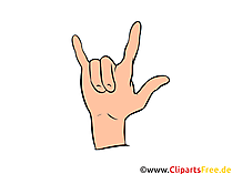 Rock Hand Illustration, Bild, Clipart gratis