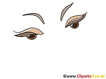 Schoene Augen Bild, Zeichnung, Cartoon