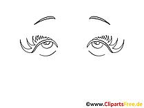 Schoene Augen Zeichnung, Bild, Grafik