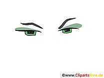 美しい漫画の目のクリップアート、画像、デッサン、グラフィック
