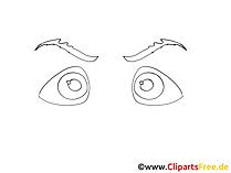 黒い白い目