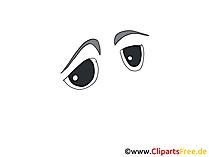 悲しい漫画の目のクリップアート、画像、デッサン、グラフィック