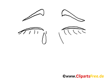 Weinen Emotionen Cliparts