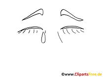 泣いている感情のクリップアート
