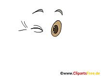 Winken Clipart, Bild, Zeichnung, Grafik