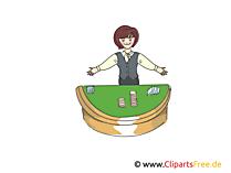 ディーラーの女性のカジノのクリップアート、画像、イラスト