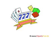 カジノの写真、クリップアート
