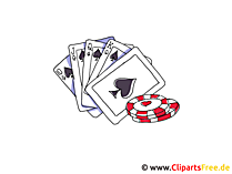 ポーカーをプレイ、カジノクリップアート