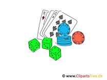 ポーカークリップアート、イラスト、画像を再生する
