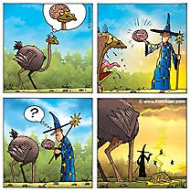 Comic kostenlos Zauberer und Strauss