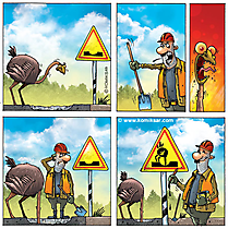 Baustelle schild comic  Comics online Bilder, Cliparts, Cartoons, Grafiken, Illustrationen ...