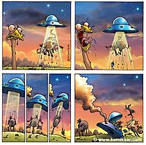 Online Comics Strauss und UFO