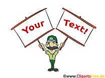 Anzeigen, Werbeplakate Clipart, Illustration, Bild, Grafik