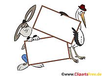 Clip Art Tiere halten leeres Schild