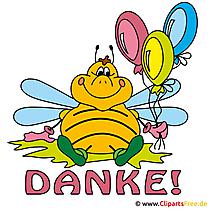 漫画の蜂と一緒にありがとう絵