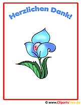 青い花の美しい絵