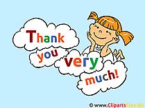 どうもありがとうございますecard、写真、クリップアート、漫画