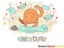 Vielen Dank Clipart, ECard, Cartoon