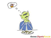 Alien Cartoon, Clipart, Bild, Illustration