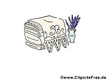 Badetücher für Sauna Bild, Clipart, Illustration, Grafik kostenlos