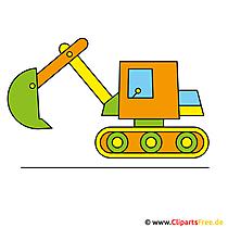 Bagger Spielzeug Clip Art, Bild, Illustration
