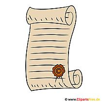 Clipart Urkunde