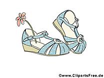 Frauenschuhe, Sommerschuhe Bild, Clipart, Illustration, Grafik kostenlos