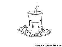 Frühstück Bild zum Malen und Ausdrucken