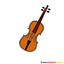 バイオリンのクリップアート
