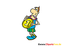 Grosse Medaille Bild, Clipart, Illustration, Comic, Cartoon gratis