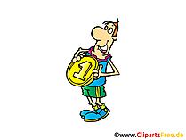 ビッグメダル画像、クリップアート、イラスト、コミック、漫画無料