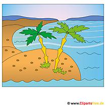 島のクリップアート