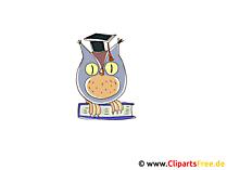 漫画のクリップアートから賢明なフクロウ