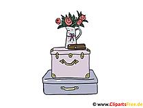 スーツケースのクリップアート