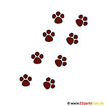 Pfotenabdruck Hund Clipart