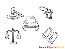 警察のクリップアート無料