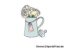 Rosen Blumenstrauss Bild, Clipart, Illustration, Grafik kostenlos