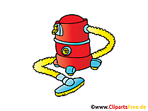 Staubsauger Bild, Clipart, Illustration, Comic, Cartoon gratis