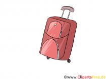 Kuffert med hjul billede, illustration, clipart
