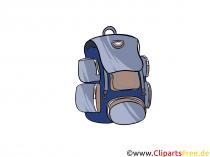 Rygsæk til rejser og vandreture billede, illustration, clipart
