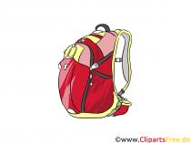 Sports rygsæk billede, illustration, clipart