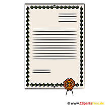 Urkunde Clipart