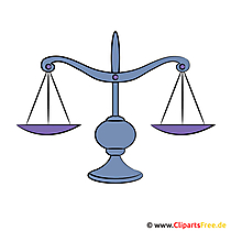 Waage Clipart - Gerechtigkeit Bild, Illustration