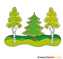 森のクリップアート