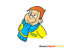 Winterschal und Winterjacke Bild, Clipart, Illustration, Comic